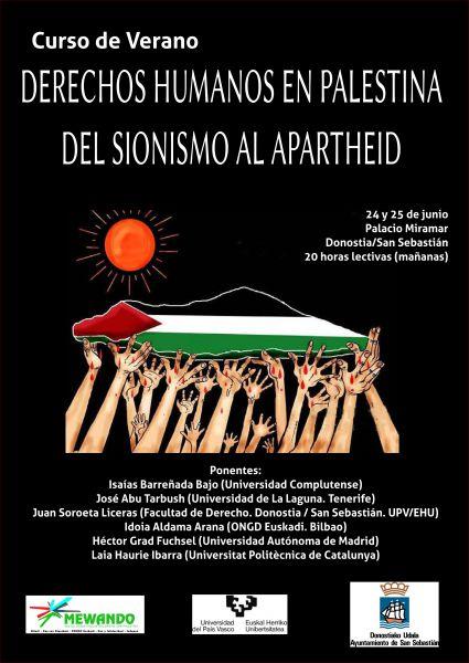 """Uhintifada 187: La asociación Biladi nos presenta el curso de verano """"DDHH en Palestina. Del sionismo al apartheid"""""""