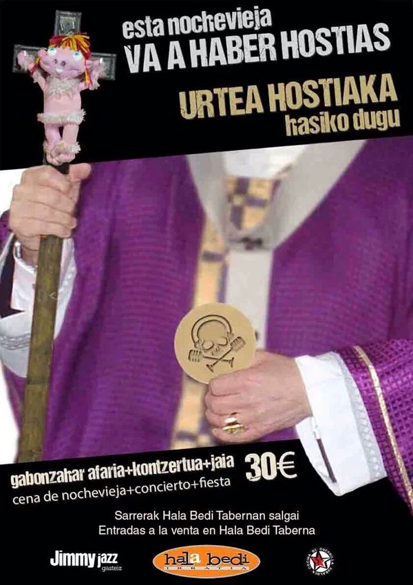 URTEA  HOSTIAKA  HASIKO  DUGU  /  ESTA  NOCHEVIEJA  VA  A  HABER  HOSTIAS