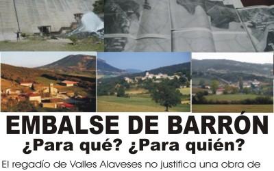 Oposición frontal de los vecinos de Valdegobía al embalse de Barrón