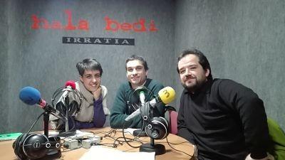 TERTULIA:  Zurine  Rodriguez,  Rikardo  Otxoa  eta  David  Mangana
