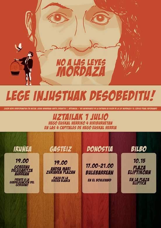 [HalaBideo] Mozal Legearen I.urteurrena / 1º Aniversario Ley Mordaza