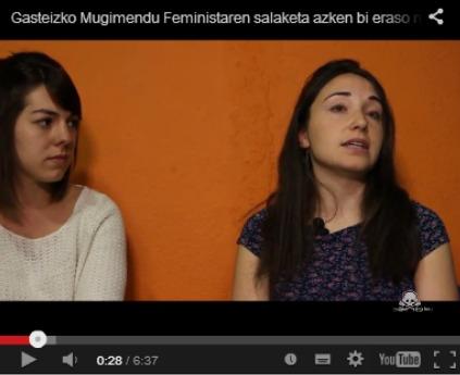 [HalaBideo]  Gasteizko  Mugimendu  Feministaren  salaketa  azkenengo  bi  eraso  sexisten  aurrean