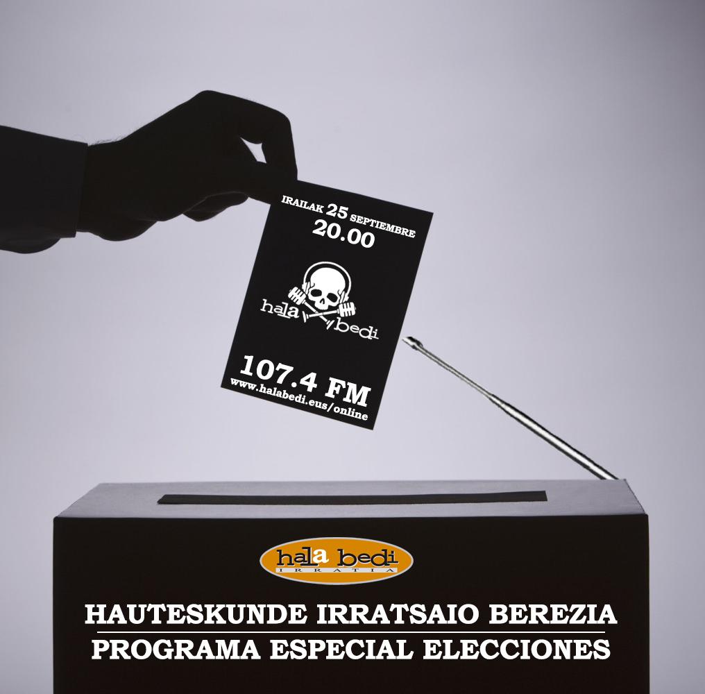 El 25-S programa especial de elecciones en Hala Bedi