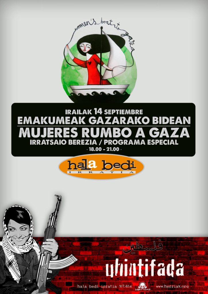 """Irailaren 14an, """"Emakumeak Gazarako bidean"""" irratsaio berezia"""