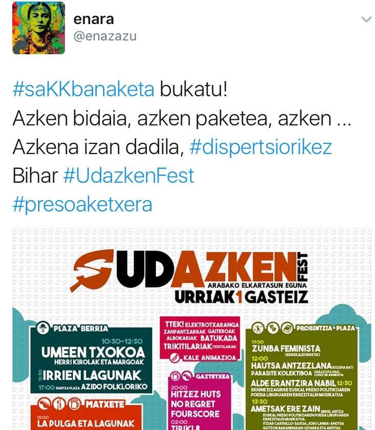 #saKKbanaketa  traola  nagusi  sare  sozialetan,  dispertsioa  salatzeko
