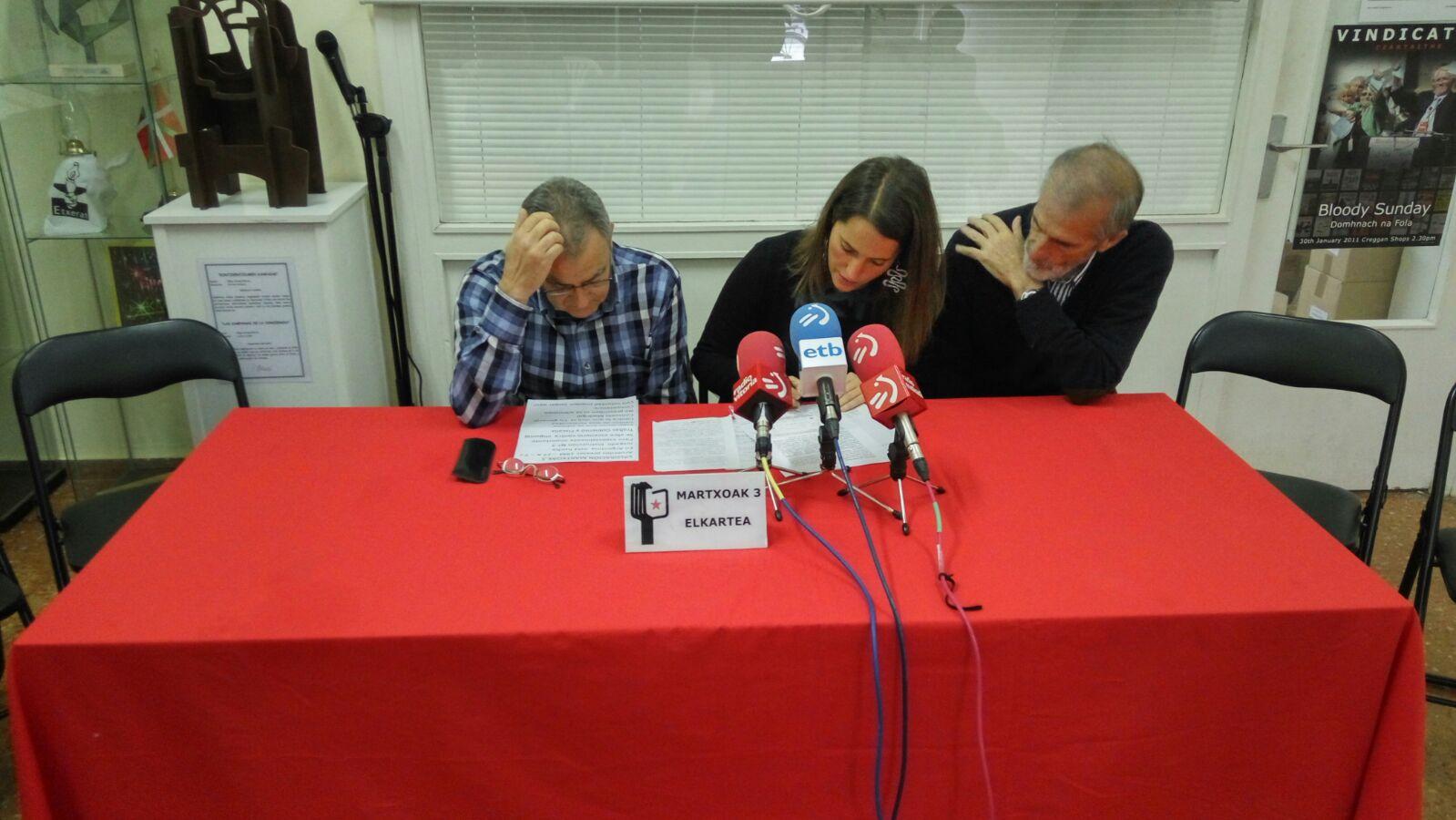 """Nerea Martínez (Martxoak 3 elkartea): """"Batzuk hasieratik egon dira; beste batzuk berandu. Orain denak batera inpunitatearekin amaitzera"""""""