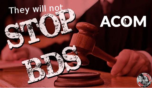 Desentrañamos los entresijos de la organización ACOM, el lobby sionista en el estado español.