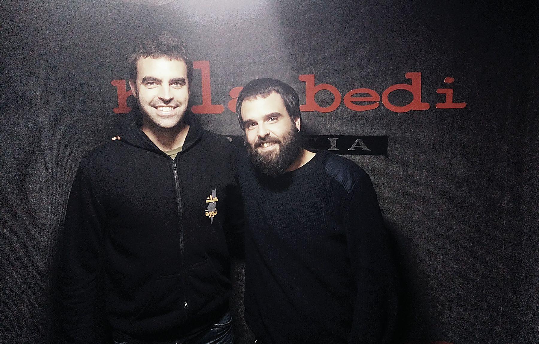 """Sergio  eta  Rulo  (Hiena)  """"Aurrez  elkar  ezagutu  arren,  lehen  aldia  da  hasieratik  erreferentzia  eta  presio  gabe  jotzen  hasi  garela"""""""