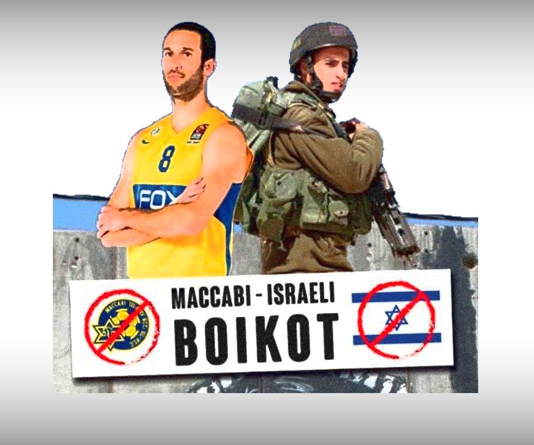 Maccabiren bisitaren harira, boikot deialdia egin dute Gazako eta Gasteizko BDZ ekintzaile ezberdinek