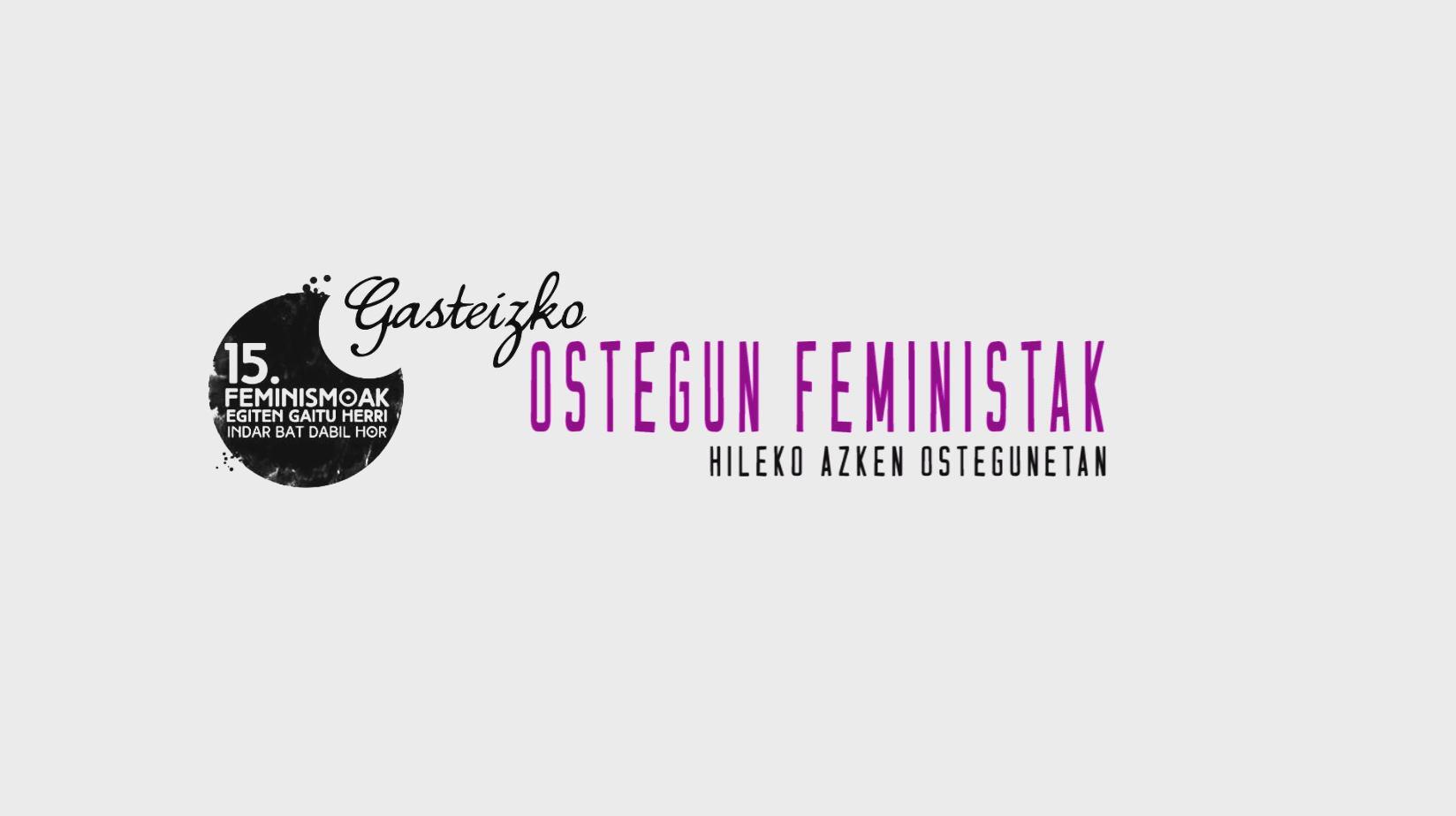 'Ostegun  Feministak'  Gasteizen,  Bilgune  Feministaren  15.  urteurrenaren  harira