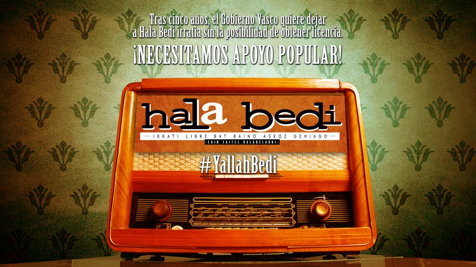 Tras  5  años,  el  Gobierno  Vasco  quiere  dejar  sin  licencia  a  Hala  Bedi  Irratia