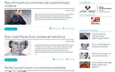 """Marta  Macho,  premio  Emakunde  por  su  blog  """"Mujeres  con  ciencia"""""""