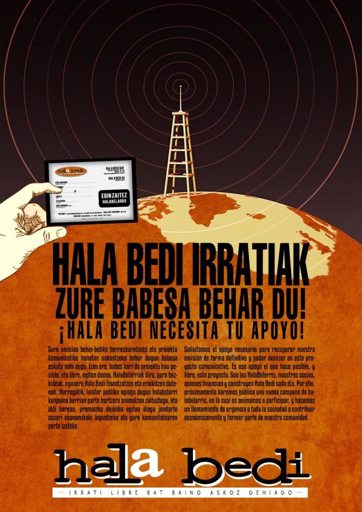 La emisión de Hala Bedi vuelve a estar en marcha, a la espera de una solución definitiva