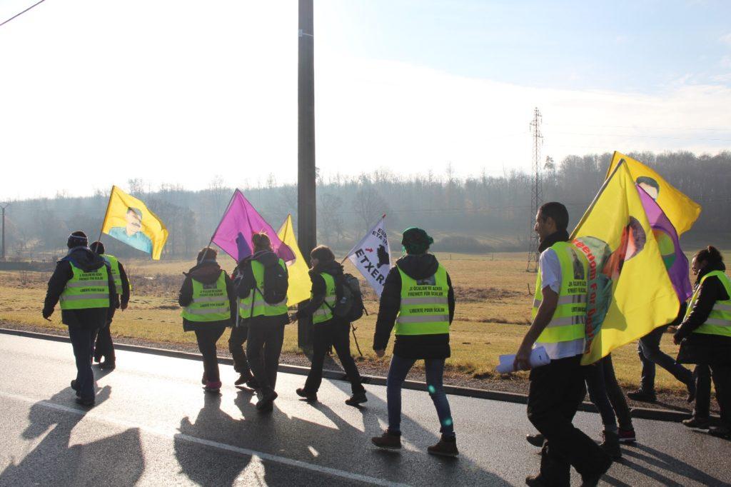 Öcalanen aldeko Nazioarteko Martxa Luzea: erdibideko kronika
