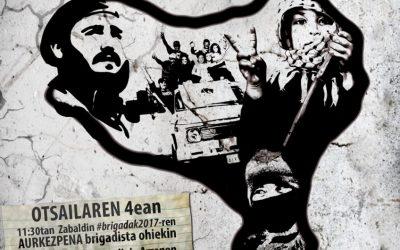 """Xabi Lasa, Askapena Brigadas 2017:""""Es importante unir las luchas, ya que el enemigo y la respuesta es común"""""""
