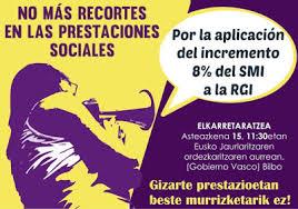 Prestaciones  Sociales:  Gobierno  vasco  insiste  en  subir  la  RGI  en  base  al  IPC