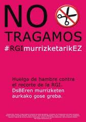 NO TRAGAMOS: desde el viernes pasado huelga de hambre contra los recortes en la RGI