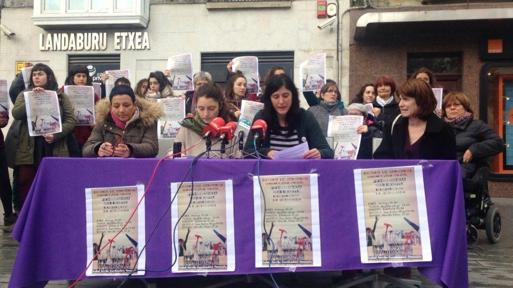 Martxoaren 8an feminismoa zorrozteko deia egin du mugimendu feministak