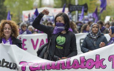"""Tertulia   """"Martxoak 8. Orainaldia eta etorkizuna"""" Negeak eta Guet eragile feministekin"""