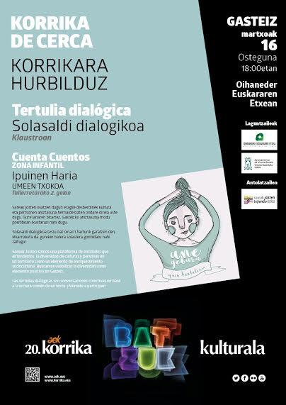 """Korrika  kultural:  Sareak  Josten  organiza  una  """"tertulia  dialógica""""  para  este  jueves  y  correrá  por  el  euskera  el  próximo  día  30"""