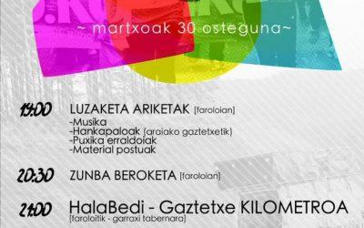 """Igor  Goikolea  eta  Beñat  Ortiz  de  Lazkano  (Hala  Bedi  eta  Gaztetxea):  """"Euskararen  argiak  argituko  du  Kutxi  kalea"""""""""""