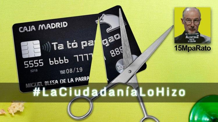 """Sergio Salgado, 15MPaRato : """"Sin la ciudadanía, no hubiera habido ningún proceso judicial en el caso de las tarjetas Black """""""
