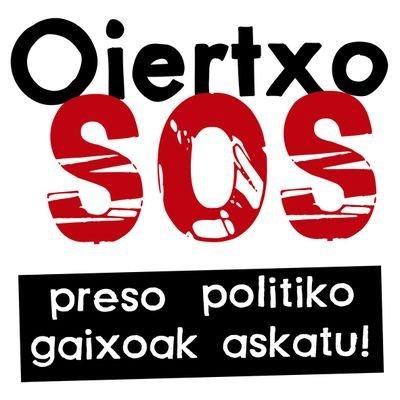 La Plataforma OiertxoSOS exige su inmediata puesta en libertad para poder ser tratado en condiciones