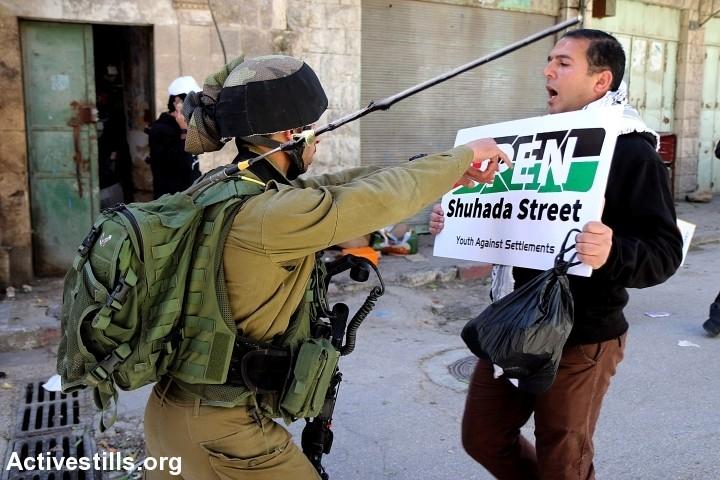 Abrid  Suhada  street,  una  de  las  caras  más  crueles  del  régimen  de  Apartheid  israelí.
