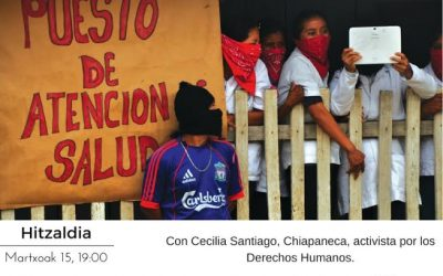 """Cecilia Santiago (activista chiapaneca): """"Vida comunitaria y procesos organizativos en Chiapas ¿Una mujer para la presidencia?"""""""
