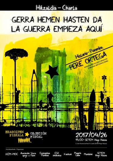 """Pere  Ortega  (Director  del  Centre  Delàs  de  estudios  por  la  paz):  """"La  objeción  fiscal  es  una  herramienta  para  introducir  aspectos  éticos  en  la  política  del  estado"""""""