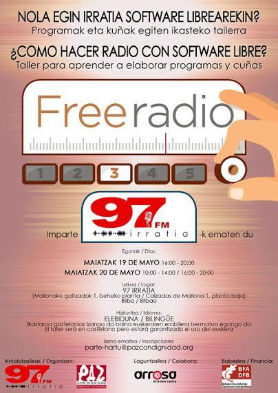 """""""¿CÓMO  HACER  RADIO  CON  SOFTWARE  LIBRE?"""",  talleres  el  19  y  20  de  mayo  en  97irratia"""