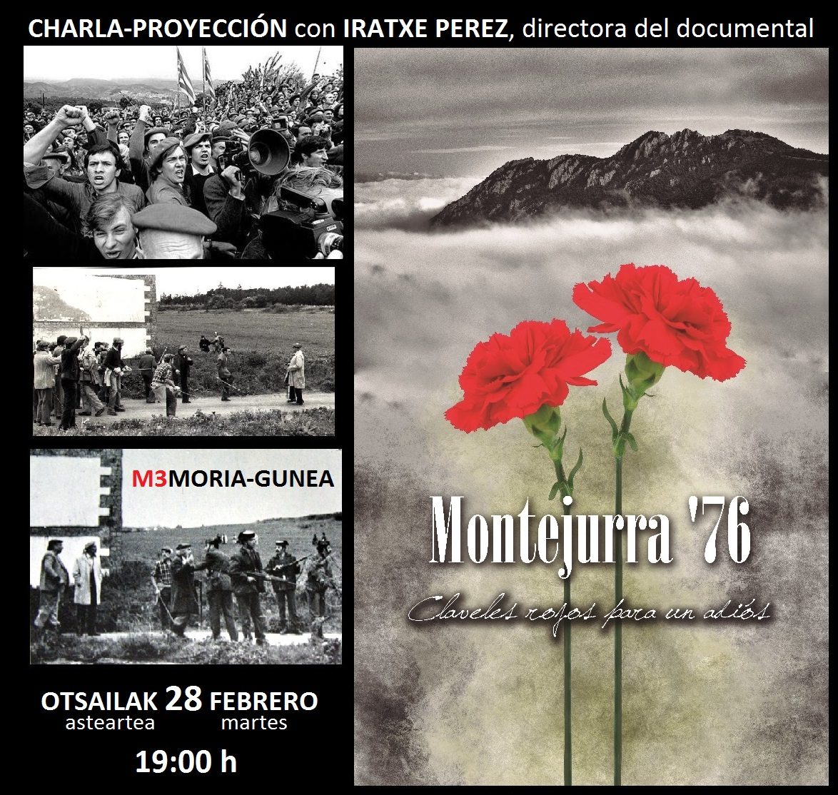 """En breve se publicará en DVD el documental """"Montejurra'76: Claveles rojos para un adiós"""""""