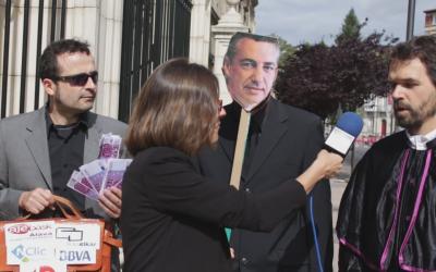 Hezkuntzan ematen den segregazioa salatu du Gasteizko Euskal Eskola Publikoaren Aldeko Plataformak parodia baten bitartez