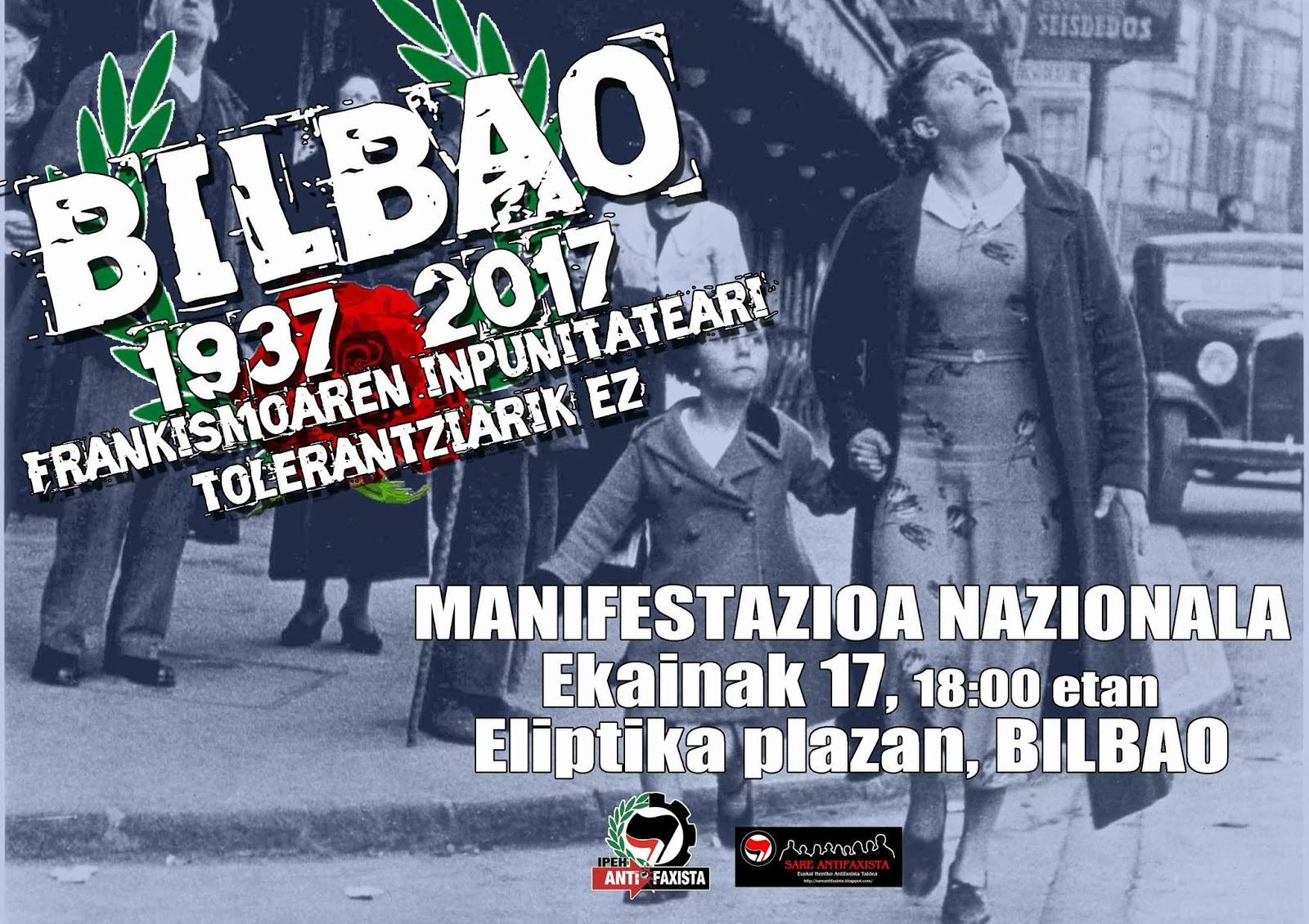Caída de Bilbao, 80 años después, recuerdos y movilizaciones