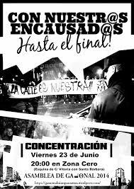 """Sergio  (Asamblea  Gamonal):  """"No  se  ha  podido  demostrar  que  participaran  en  los  disturbios,  es  una  condena  política"""""""