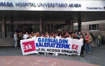 ESK  denuncia  represión  sindical  en  Osakidetza  por  parte  de  Garbialdi  al  despedir  a  una  delegada  suya