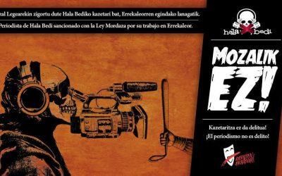 El Gobierno Vasco ha impuesto la Ley Mordaza a Hala Bedi