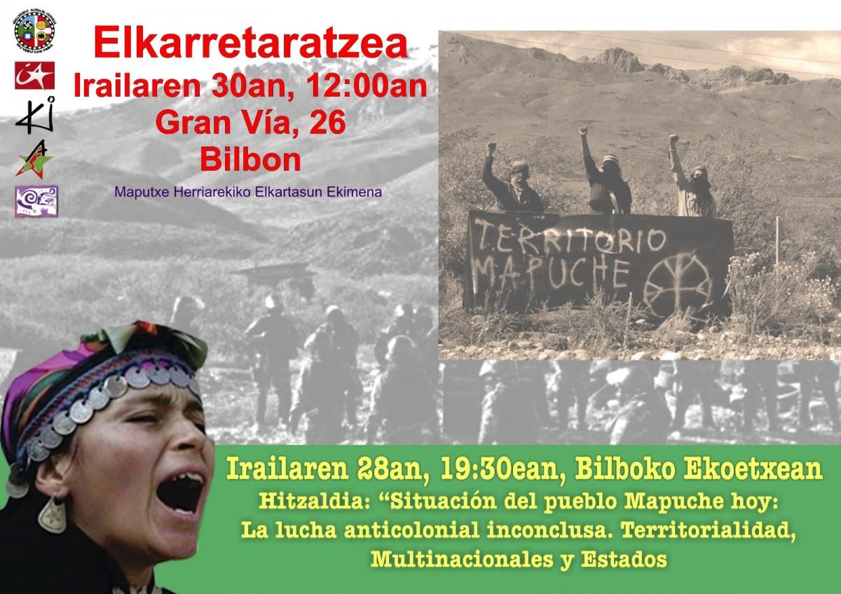 """Wallmapu Euskal Herria (colectivo de apoyo al pueblo mapuche): """"Desde la supuesta democracia hay más de 13 asesinados y 3 desaparecidos"""""""
