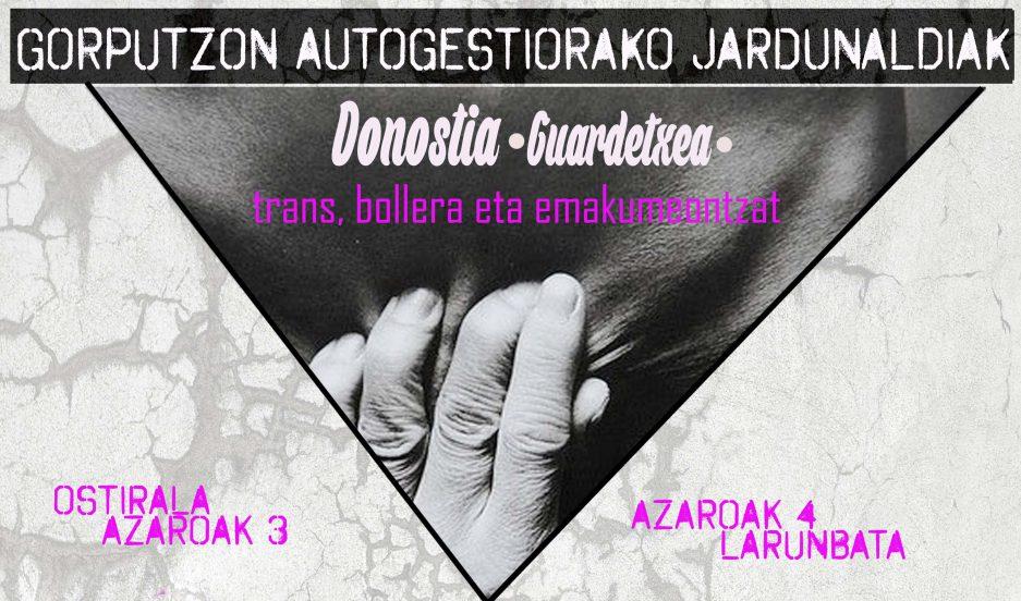 Jornadas para la autogestión de los cuerpos (3-4 de noviembre en Donostia)