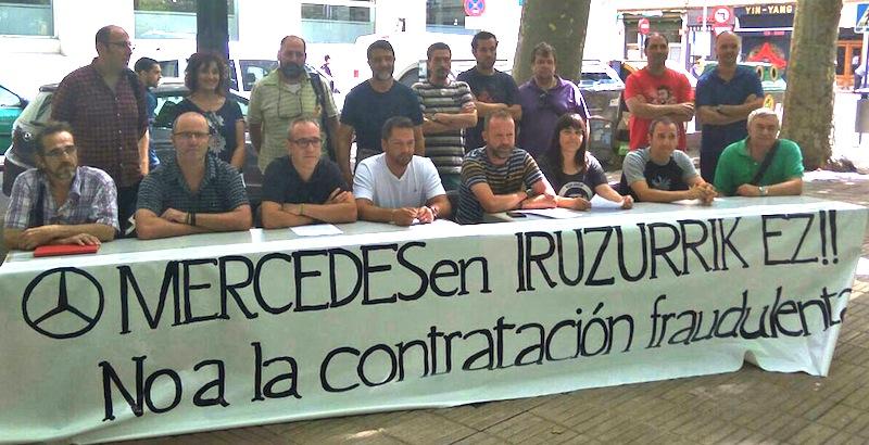 Mercedeseko kontratazio-iruzurra salatu dute ELA, LAB eta ESK sindikatuek giza baliabideetako arduradun nagusiari