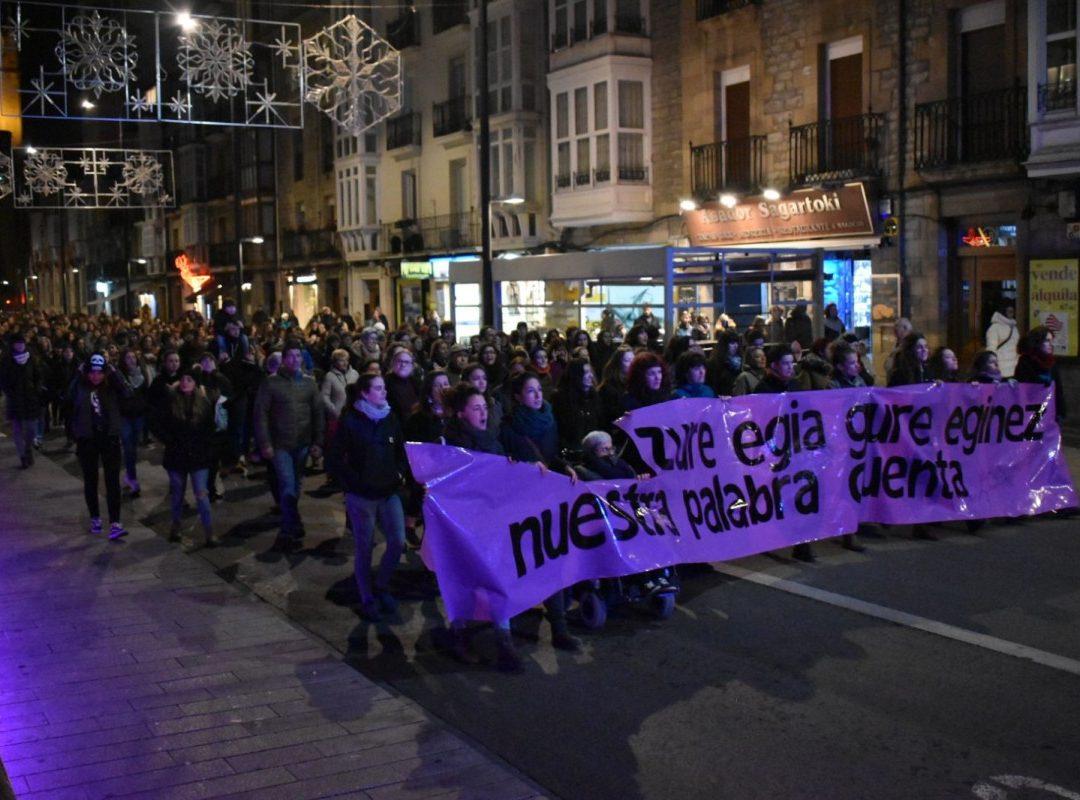 Indarkeria matxistaren aurkako amorru garrasi feminista