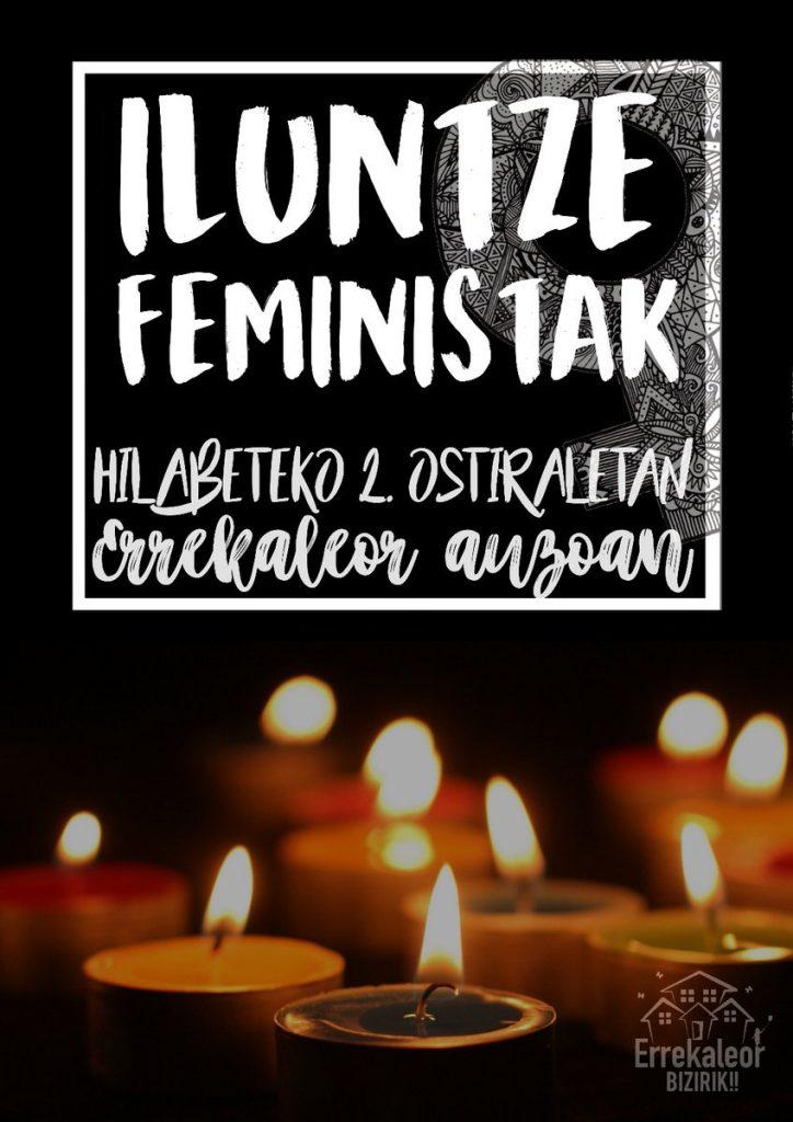 Iluntze feministak egingo dituzte urtarriletik aurrera Errekaleorren