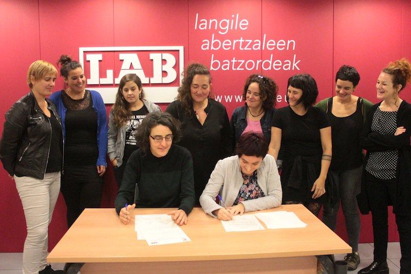 LAB pone en marcha su escuela feminista interpelando a todas las personas del sindicato