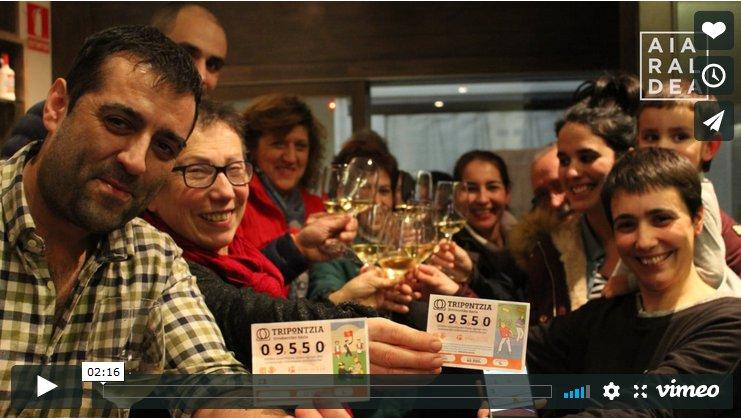 'Tripontzia' zozketak 102.000 euro utzi ditu Urduñan