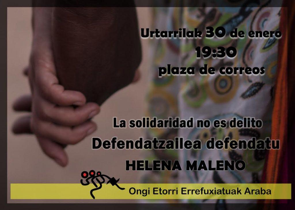 #DefendiendoaMALENO  Concentración de solidaridad con la activista Helena Maleno