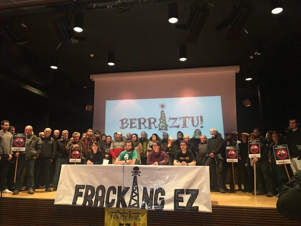 Berriztu y Fracking Ez lamentan el revés del TC y exigen la desaparición de SHESA