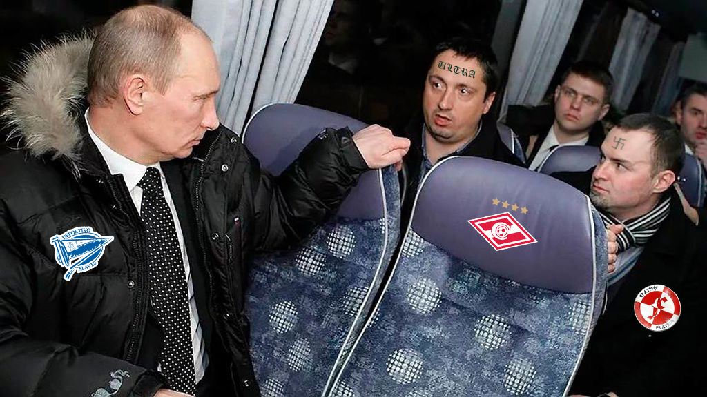 Putin  aterriza  en  Gasteiz  para  mandar  a  casa  a  los  nazis  rusos  del  Spartak  de  Moscú