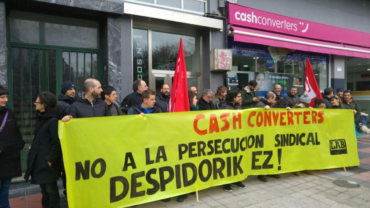 Persecución sindical en Cash Converters