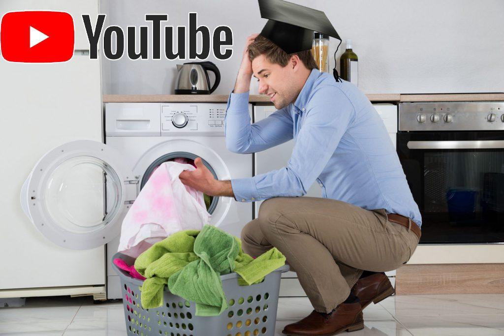 Hombres* colapsan Youtube viendo tutoriales de cómo poner la lavadora de cara a la huelga