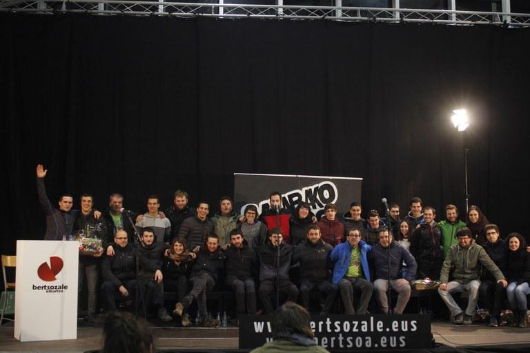 2018ko Arabako Bertso Kuadrilla artekoan Aramaioko Ibabeko Bertaren Bilobak garaile